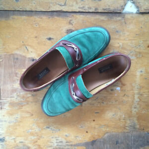 Vintage Bally Colorful Loafers // Great Condition