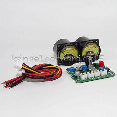 2pcs X Vu Panel Meter 500ua Warm Back Light Recording Cable Wdriver Module