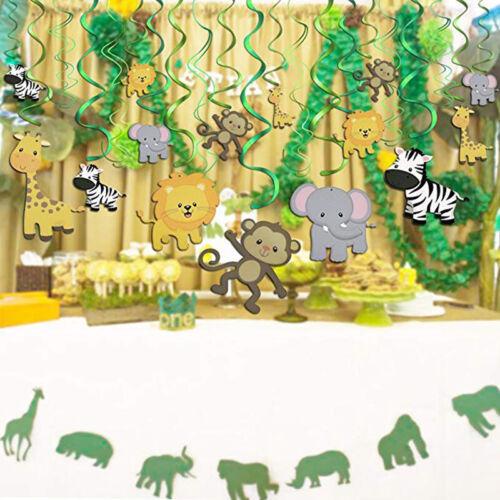 30 Pack Jungle Theme Hanging Animals Decorations Children Bi