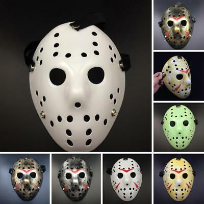 Jason Voorhees Scary Mask Prop Hockey Halloween Cosplay Creepy Mask Friday 13th (Scary Hockey Mask)