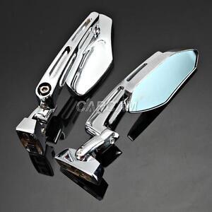 Chrome CNC Rearview Mirrors For SUZUKI GSX R GSXR 600 750 1000 1300 HAYABUSA