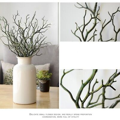 3PCS Artificial Flower Fake Tree Branch Plant Wedding Dry Twig Home Simple Decor