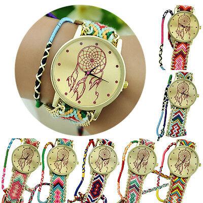 New Dreamcatcher Friendship Bracelet Watches Women Braid Dress Watches Unique