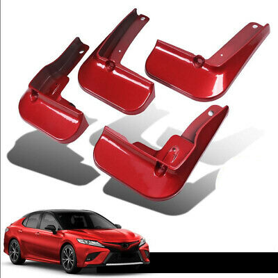 FIT FOR TOYOTA CAMRY 2018 2019 MUD FLAP FLAPS SPLASH GUARDS MUDGUARDS RED 4PCS
