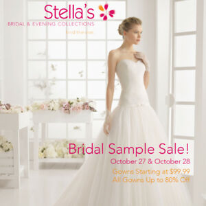 Stella's Wedding Dress Sample Sale! October 27 & 28