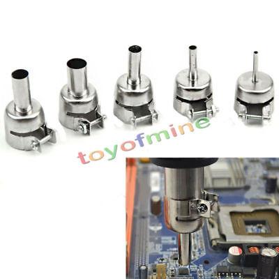 5pc Heat Gun Nozzles Heat Air Gun Nozzle For Hot Air Soldering Station