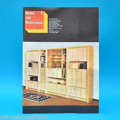 DDR Möbel und Wohnraum 3/1981 Fachzeitschrift VEB Möbelkombinat Zeulenroda Piano