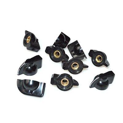 10 Pcs 6mm 1564 Shaft Hole Dia Potentiometer Pot Pointer Knobs Caps