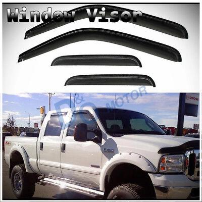 - 4pcs Sun/Rain Guard Vent Shade Window Visors Fit 99-16 Ford Super Duty Crew Cab
