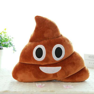 Mini Small Emoji Smiely Poop Pillow Plush Cushions Home Decor Kids Poop Doll