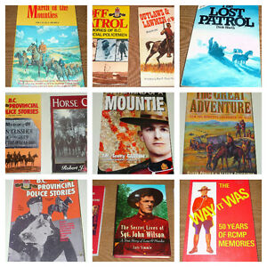 R.C.M.P.  9 books on the history of the RCMP & Provincial Police