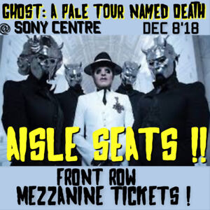 GHOST @SONY CENTRE-AMAZING FRONT ROW MEZZANINE TICKETS & MORE!!