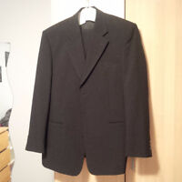 Men's Two Piece Black Suit