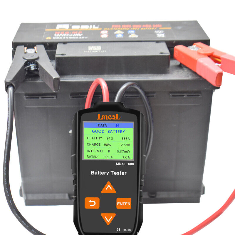 Lancol 12V Digital Battery Analyzer with Color LCD Display Battery Tester
