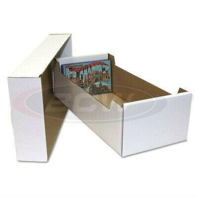 1 BCW Postcard / Topload Storage Box Durable Cardboard High Quality 1-BX-PCBOX