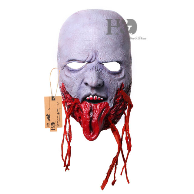 ghost latex halloween mask masquerade fancy party costume dress scary horror new - Scary Props