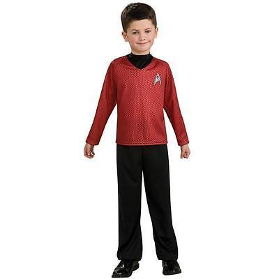 Star Trek SCOTTY Red Starfleet Uniform Fleet Costume 8/10 MED Child Boy COSPLAY