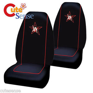 betty boop car seat cover auto car accessories set 2pc front seat star. Black Bedroom Furniture Sets. Home Design Ideas