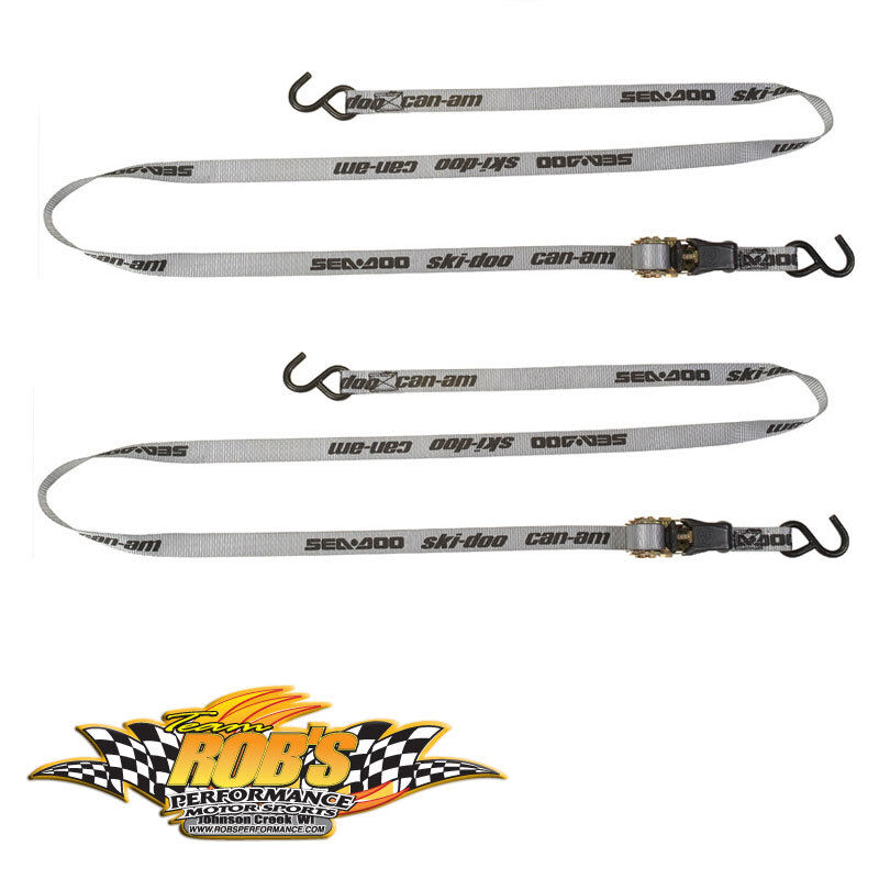 NEW SEA-DOO CAN-AM SKI-DOO RATCHET TIE DOWN KIT SOLD AS PAIR #860200447