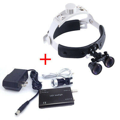 3.5x Dental Surgical Medical Headband Binocular Loupes Led Head Light