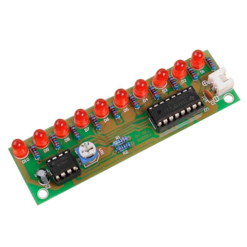 NE555 & CD4017 LED Light Chaser Sequencer Follower Scroller Module DIY Kit Red