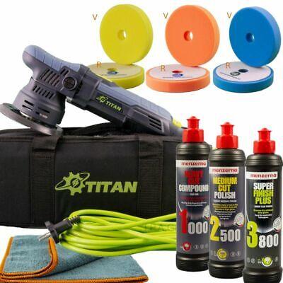 Exzenterpolierer Titan TDA09 9mm Hub+ Menzerna Politurset + Pads Einsteiger Kit