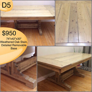 CUSTOM SOLID WOOD RUSTIC DINING TABLES, BENCHES AND MORE Kingston Kingston Area image 3