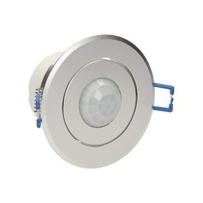Decken Einbau Bewegungsmelder silber Aluminium wie Einbaustrahler PIR CR223 360°