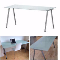 Ikea Tempered Frosted Glass Desk