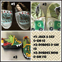 0-6 month leather soft soled shoes- info in photo