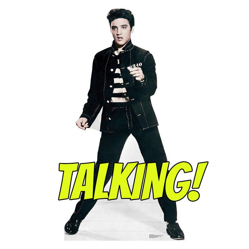 ELVIS PRESLEY TALKING Jailhouse Rock CARDBOARD CUTOUT Standup Standee Poster
