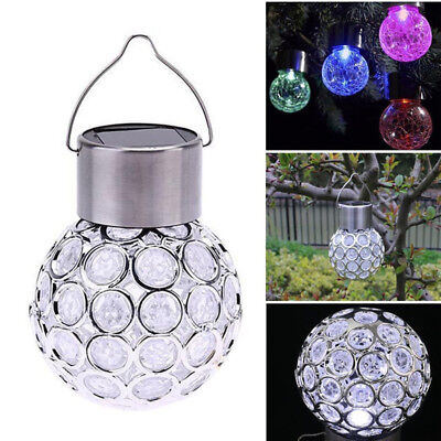 (Solar Power Ball Hanging Garden Outdoor Landscape Color Change LED Lamp New x1)