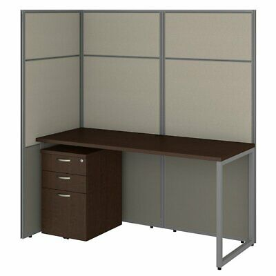 Bush Business Furniture Easy Office Cubicle With File Cabinet And Open Panels