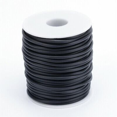 1 Roll 4mm Black Hollow Pipe PVC Tubular Rubber Cord Wrap Around Spool Hole 2mm 2mm Black Rubber Cord