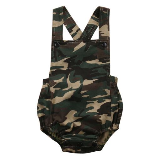 Camouflage Newborn Baby Boy Girl Romper Jumpsuit Summer Clot