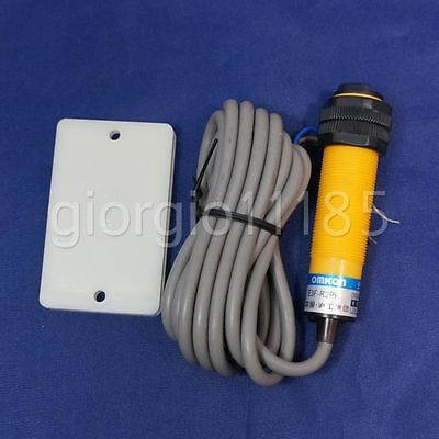 Us Stock E3f-r2pk M18 X 1 Reflective Photoelectric Switch Sensor Pnp No Dc6-36v