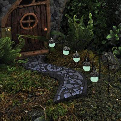 Miniature Glow in Dark  Acorn Lights Set 5 GO 17417  Fairy Garden Dollhouse
