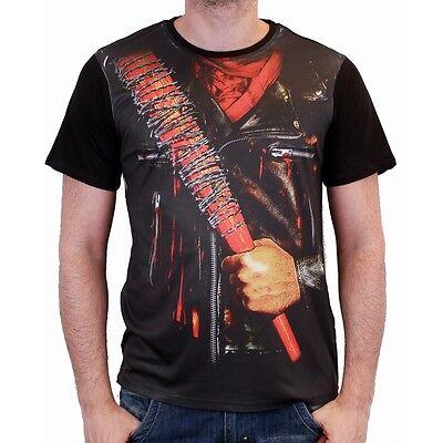 Negan Lucille Baseball Bat The Walking Dead Costume Kostüm Männer Men T-Shirt ()