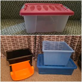 5 storage boxes