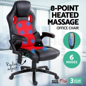 NEW 8 POINT MASSAGE CHAIR OFFICE CHAIR HEAT HIGH BACK CHAIR