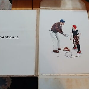 Norman Rockwell Hand signed Portfolio 1972 A/P TRADE 4 CAR-TRUCK