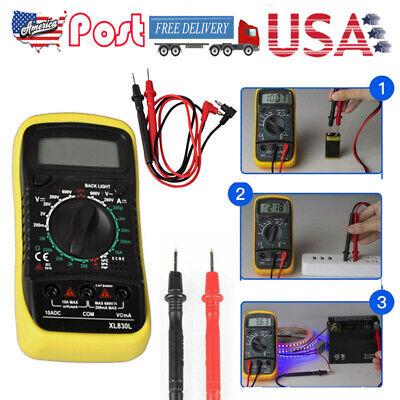 Xl830l Handheld Digital Multimeter Backlight Portable Acdc Ammeter Voltmeter Us