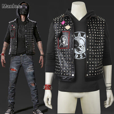 Watch Dogs 2 DedSec Aiden Pearce CG:Wrench Costume Facemask Cosplay Full Suit - Watch Dogs Costume