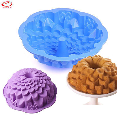 Large Chrysanthemum Shape Cake Pan Bread Chocolate Bakeware Silicone Mold