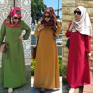Robe Hijab Abaya Femme Musulmane Muslim Dress Islamic Wear