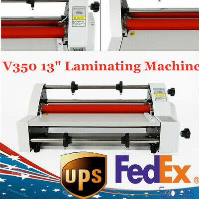 13laminator Four Rollers Hot And Cold Roll Laminating Machine350mm 110v