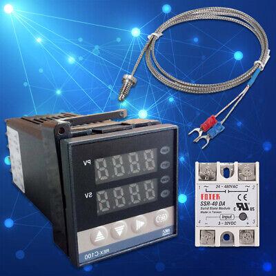 0-1300 Alarm Rex-c100 Digital Pid Temperature Controller Kits Ac 110v-240v
