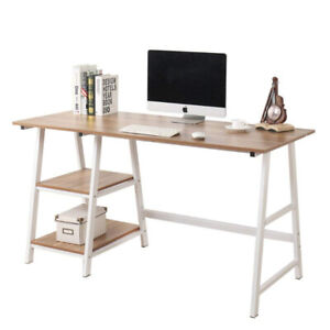 "Soges Computer Desk 55"" PC Desk Office Desk with Shelf Worksta"