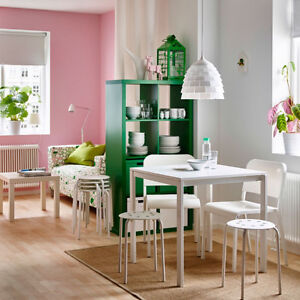 IKEA white table and chairs