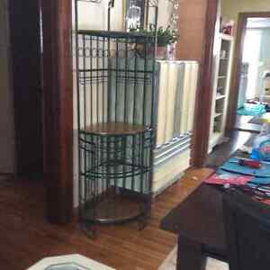 Corner Wrought Iron solid oak platforms strong sturdy